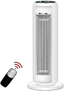 Moolo Calentador, Calefactor Cerámico Protección contra Descarga Protección contra Sobrecalentamiento Control Remoto Ajuste Baño Oficina 2200W (Blanco)