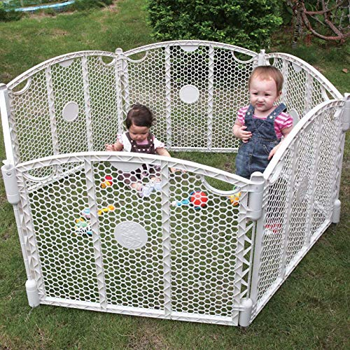 Spuddies Honeycomb Play Yard (Indoor & Outdoor), White
