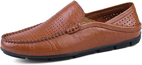 Easy Go Shopping Herrenmode Mokassins Wave Sohle Soft & Super Light Slip On Driving Loafer,Grille Schuhe