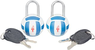 Safe Skies TSA 2pk Olympic Tsa Padlocks - Volleyball, White, One Size