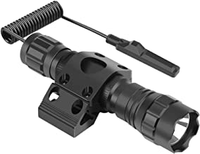 Feyachi FL17 Weapon Light 1200 Lumens Tactical Flashlight with M-Lok Rail Mount, Pressure Switch Batteries and Charger Inc...