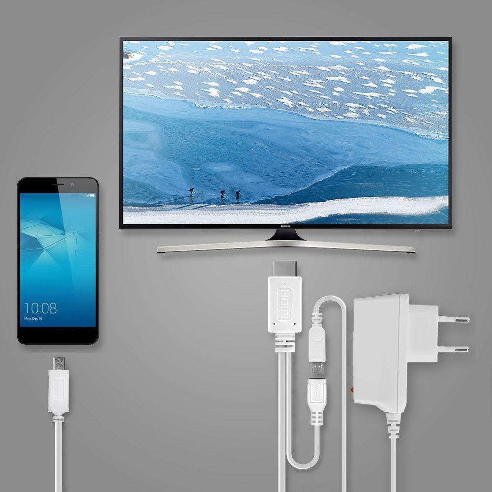 subtel Cable MHL Adaptador Micro-USB 11-Pin a HDMI, para Samsung ...