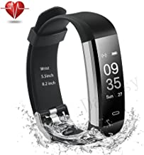 Damusy Fitness Tracker, Bluetooth Watch Activity Tracker Smart Band with Heart Rate Monitor,Waterproof Bracelet Pedometer Wristband with Calorie Counter, Call/SMS Remind for Android and iOS