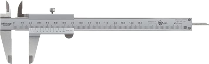 Mitutoyo 530-101 Vernier Calipers, Stainless Steel, for Inside, Outside, Depth and Step..