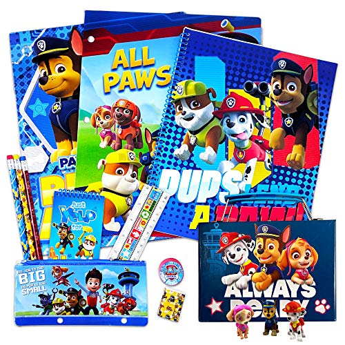 Paw Patrol School Supplies Value Pack ~ Folders, Notebook, Pencils, and Stickers