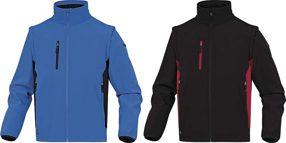 Delta Plus MYSE2BNPT Lot de 10 Veste softshell 96% polyester 4% élasthanne Manches amovibles Bleu noir Taille S