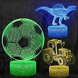 3D Illusion Lampe, mixigoo 3D LED Nachtlicht mit 16 Farbwechsel Berührungsschalter...
