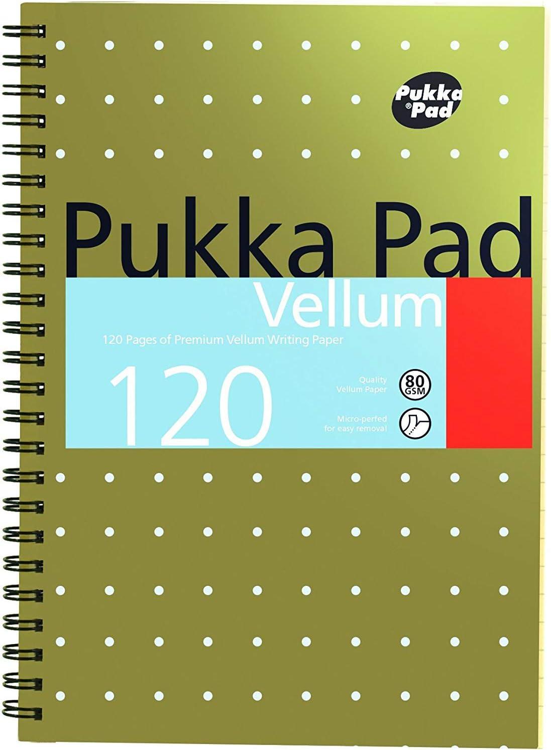 3 国産品 X Notebook Wirebound Perforated Ruled 120pp Re Vellum 5☆大好評 A5 80gsm