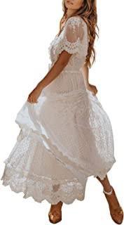 لباس عروس توری گل توری گل Bdcoco آستین کوتاه مهمانی شب ساقدوش عروس لباس ماکسی