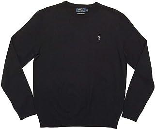 Ralph Lauren Polo Men's Crew Neck Merino Wool Sweater Black
