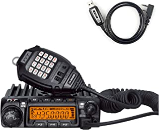 TYT TH-9000D UHF Mono Band Mobile Radios 50 Watt Amateur Car Truck Ham Transceiver with USB Programming Cable