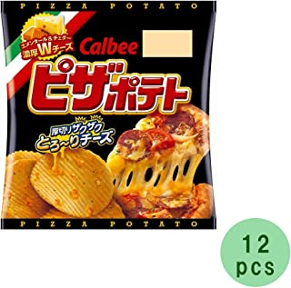 Pizza Potato 0.9oz 12pcs Japanese pizza Taste Potato Crisps Calbee Ninjapo