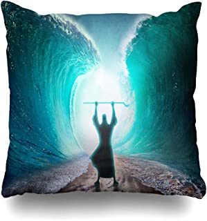 Ahawoso Throw Pillow Cover Pillowcase Water Red Passover Moses Separate Sea Exodus Judaism Slavery Bible Story Israel Design Home Decor Design Square Size 18