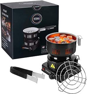Allume Charbon Électrique Tamis à Charbon Portable avec Thermostat 5 Positions Protection Surchauffe pour la Cuisine à la ...