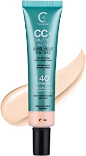 GPGP GreenPeople CC Cream Foundation Concealer with Sunscreen SPF 40+ - Complexion Rescue Tinted Hydrating ...