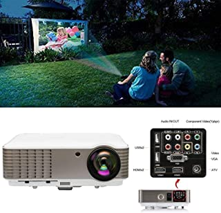 EUG LCD HD Home Theater Projector 1080P 4600 Lumen Digital TV Projector Movies Gaming with HDMI  HDMI USB RCA Audio VGA AV Zoom Keystone Built-in Speakers, Ideal for Outdoor Indoor Entertainment