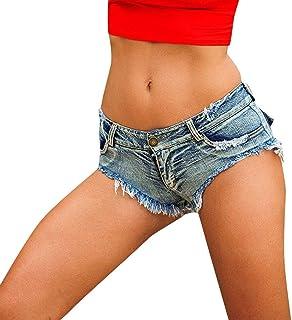 Women Sexy Cut Off Low Rise Jeans Shorts Summer Ripped Denim Mini Hot Pants