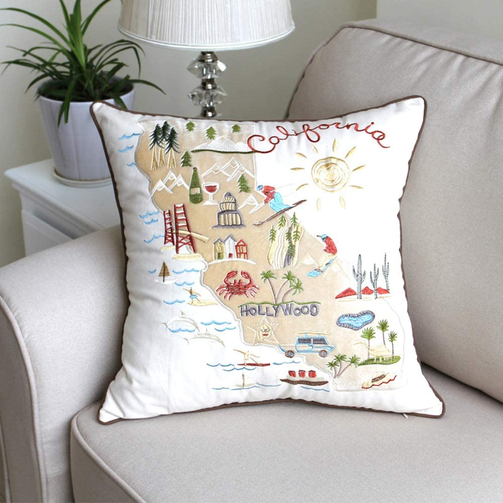 Safety and trust Huhu Ma discount 18''x 18'' Urban Embroidery Cover Sofa Throw Pil Pillow