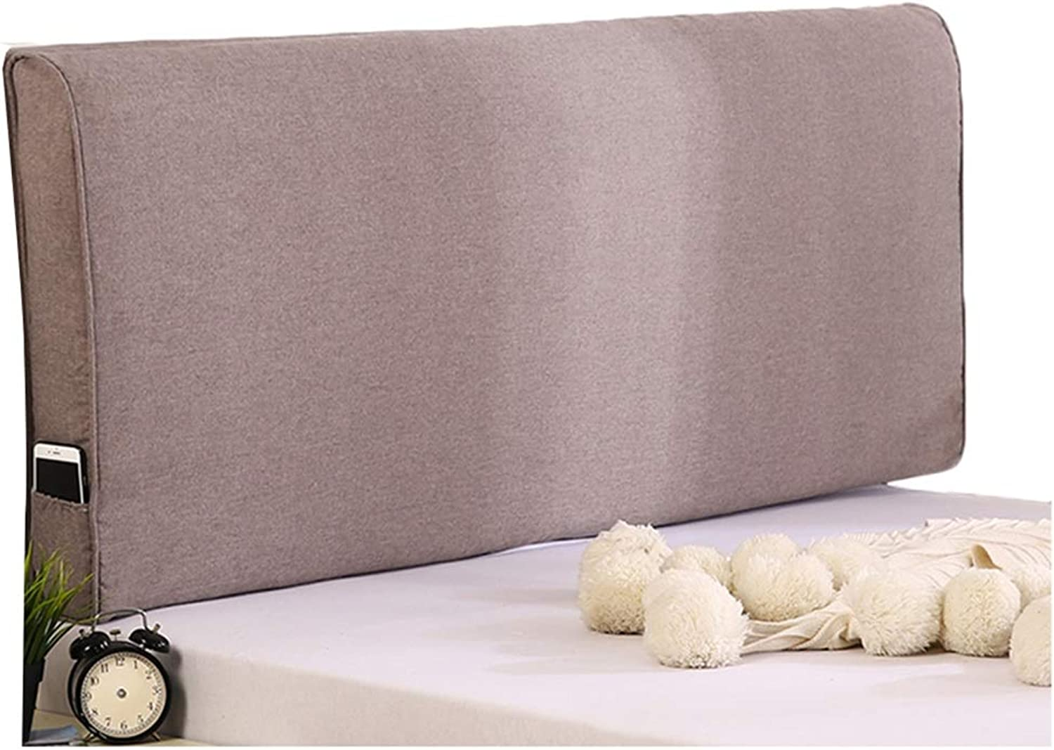 WENZHE Upholstered Fabric Upholstered Headboard Pillow Bedside Cushion Wedges Backrest Waist Pad Washable Soft Case Home Sponge Backrest, with Without Headboard, 3 colors