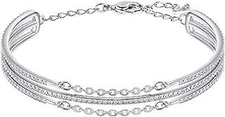 Swarovski Women's Rhodium Plated Crystals Bracelet - 5230658