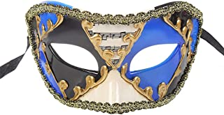 Mardi Gras Mask Halloween Party Ball Costume Musical Half Face Eyemask Home Haunted House Meal Bar Decor Adult for Ball Prom Party Christmas Zhhlaixing