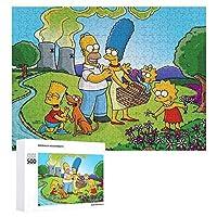 シンプソンズ ジグソーパズル 500/1000個 木製パズル 知的減圧 楽しいパズル 学生 子供 大人のパズル おもちゃ アニメ 漫画 壁飾り