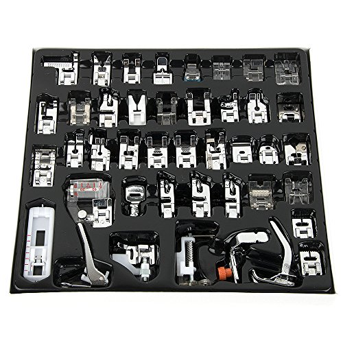 YanFeng Juego de 42 prensatelas universales para máquina de coser, multifunción, herramientas domésticas para Brother, Singer, Butterfly, Janome, Baby Lock