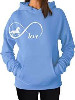 Gift for Horse Lover Infinite Love Women Horse Hoodie