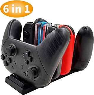 Controller Charger for Nintendo Switch, Charging Dock Stand Station for Switch Joy-con and Pro Controller with Charging In...