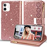 2Buyshop Custodia per Apple iPhone 12 5G Cover in Pelle 360 a Libro Portafoglio Glitter Silicone Cover iPhone 12 5G Case [7 Slot per Schede] Antiurto Originale Caso iPhone 12 5G Cassa