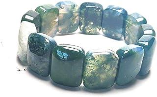 yigedan Natura Indian Water Grass Agate Green Jade Bracelet Jade Bangle Women