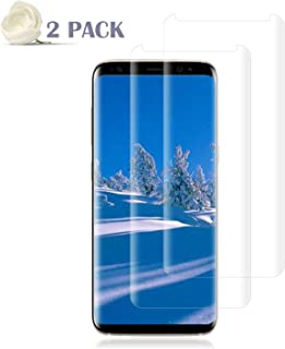 [2 Pack] Galaxy S8 Screen Protector [9H Hardness][Anti-Scratch][Anti-Bubble][3D Curved] [High Definition] [Ultra Clear] Tempered BBInfinite Compatible Samsung Galaxy S8
