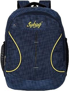 Sybag Navy Check Casual Laptop Bag