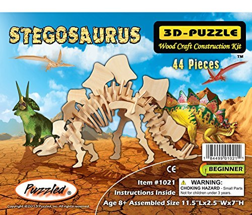 Puzzled Stegosaurus Dinosaur 3D Woodcraft Kit de construcción de madera