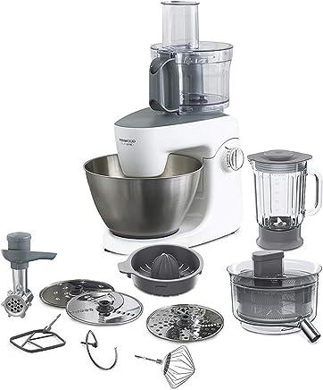 Kenwood KHH326 Robot de cocina, accesorios incluidos, 1000 W, 4.3 litros, Acero Inoxidable, 6 Velocidades, Plata y Blanco