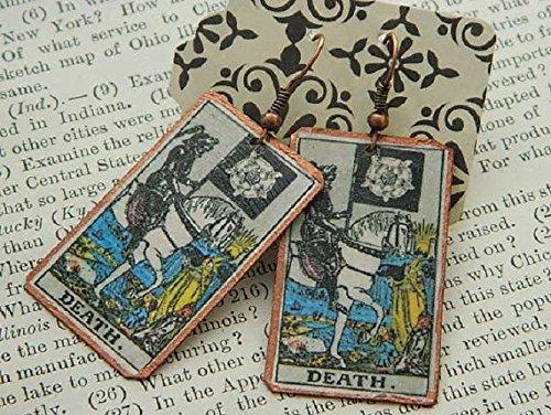 Tarot card earrings Tarot Jewelry Choose Any Major Arcana mixed media jewelry Supernatural jewelry