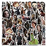 The Walking Dead Stickers,50 PCS TV Show Stickers,TV Series Characters Vinyl Waterproof Stickers for Laptop,Water Bottles,Luggage,Computer,Cellphone,Skateboard,Guitar