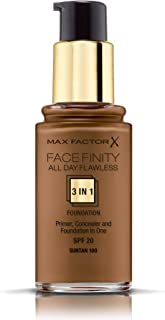 Max Factor Facefinity 3 In 1 Primer, Concealer And Foundation Spf20 100 Suntan 30ml