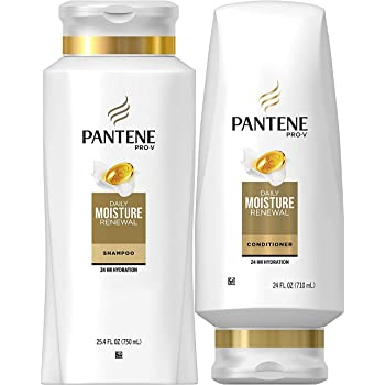 Pantene Moisturizing Shampoo and Conditioner for Dry Hair, Daily Moisture Renewal, Bundle Pack