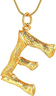 Stainless Steel Gold Initial Alphabet 26 Letters Script Name Pendant Chain Necklace from A-Z
