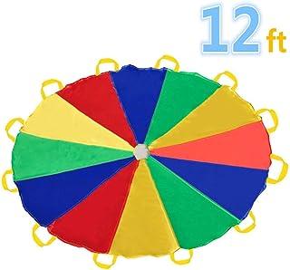 comprar comparacion Sonyabecca Paracaídas 12' con 12 Asas para Interior o Exterior 3.50 m (niños de 6-12 años)