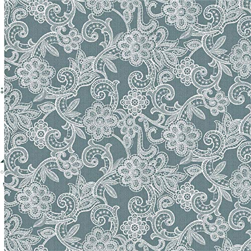 Witte gehaakte bloem Vinyl tafelkleed | geschikt voor maximaal zes zitplaatsen tafel | rechthoek tafelkleed | gemakkelijk schoon te vegen | textiel bekleed plastic tafelkleed | 2 meter lengte (320)