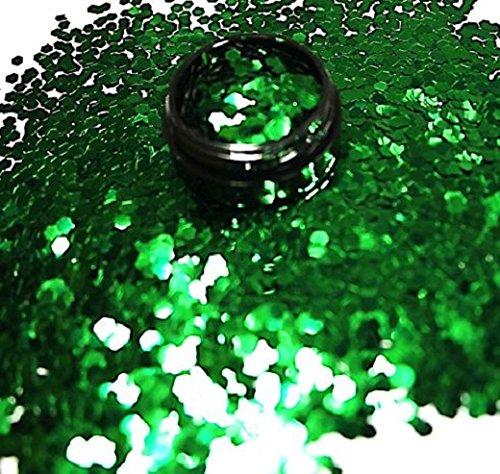 3 ml glitterpailletten (2,3 mm) donkergroen in acryl pot