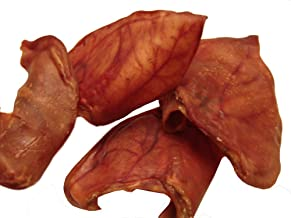 Sawmill Creek Smokehouse Pig Ears, Large!, 25 Packs,Sourced and Made in USA, All Natural Hickory Smoked, USDA Human Grade Quality