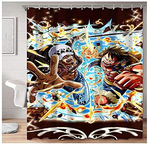 Cortinas de Ducha antimoho y Lavables Cortina de Ducha para baño Creative Battlefield Ⅴ División de Juegos 180*180cm para decoración de baño con 12 Ganchos 3D Impresión Digital Poliéster...