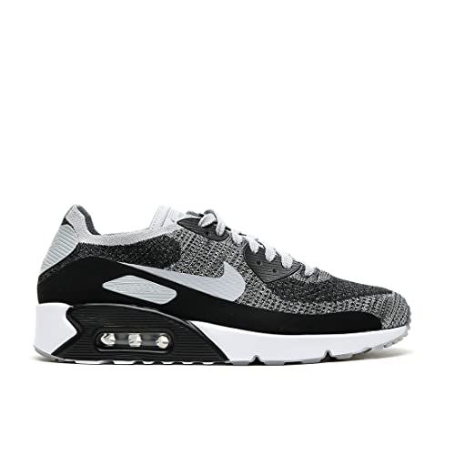online retailer 40025 1190b Nike Mens Air Max 90 Ultra 2.0 Flyknit Running Shoes Black Wolf Grey Pure