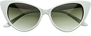 Designer Inspired Super Cat Eye Sunglasses Snow White