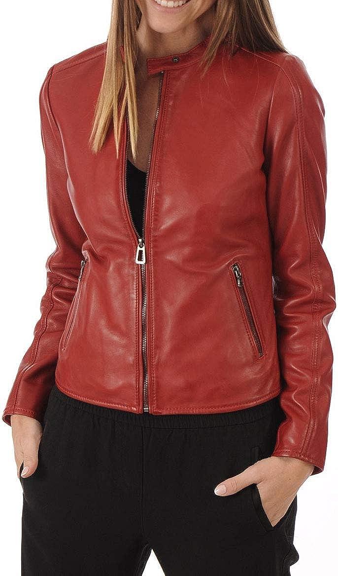 Max 51% OFF KAINAT Women's Motorcycle Bomber Biker Leather Lambskin Free Shipping Cheap Bargain Gift H Jacket