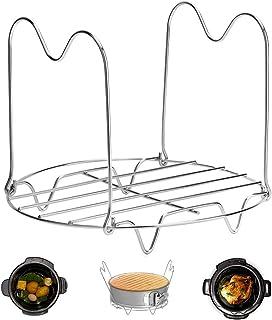 Steamer Rack Trivet with Handles Compatible with Instant Pot Accessories 6 Qt 8 Quart, Pressure Cooker Trivet Wire Steam R...