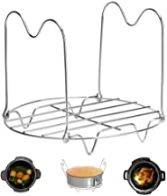 Steamer Rack Trivet with Handles Compatible with Instant Pot Accessories 6 Qt 8 Quart,..